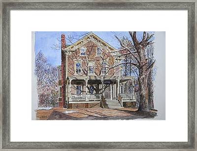 Historic Home Westifled New Jersey Framed Print by Anthony Butera