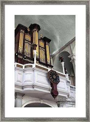 Historic Organ Framed Print by John Rizzuto
