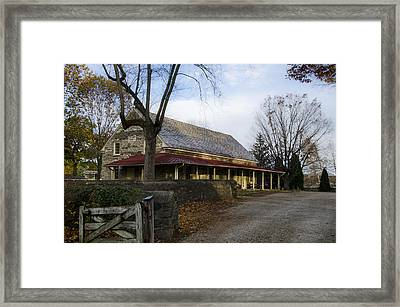 Historic Plymouth Meeting Friends Framed Print by Bill Cannon
