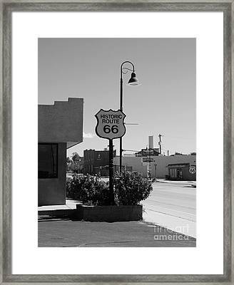 Historic Route 66 Framed Print by Mel Steinhauer