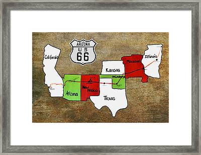 Historic Route 66 - The Mother Road Framed Print by Christine Till