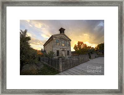 Historic School Bannack Montana 4 Framed Print by Bob Christopher