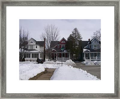 Historic Seventh Street Menominee Framed Print by Jonathon Hansen