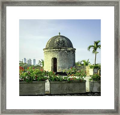 Historic Spanish Colonial Walls Framed Print by Jerry Ginsberg