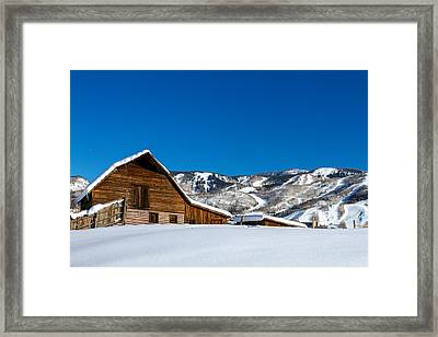 Historic Steamboat Spring Barn Framed Print by Teri Virbickis
