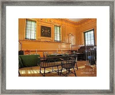 Historic Supreme Court Framed Print by Olivier Le Queinec