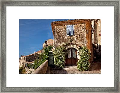 Historic Town Of Eze, Provence, France Framed Print by Brian Jannsen