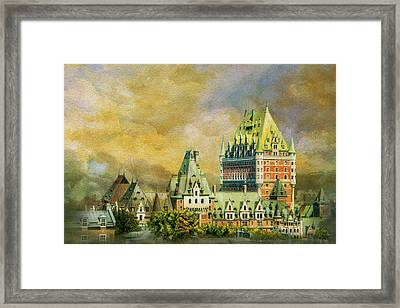 Historic Town Of Old Quebec 01 Framed Print by Catf