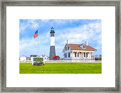 Historic Tybee Island Light Station Framed Print by Mark E Tisdale
