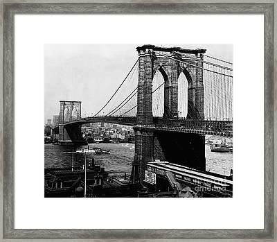 Historical 20st Century People Black And White Artwork 107 Framed Print by Boon Mee