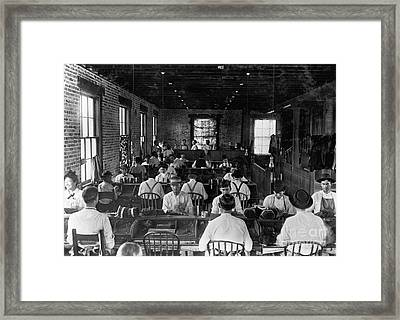 Historical 20st Century People Black And White Artwork 113 Framed Print by Boon Mee