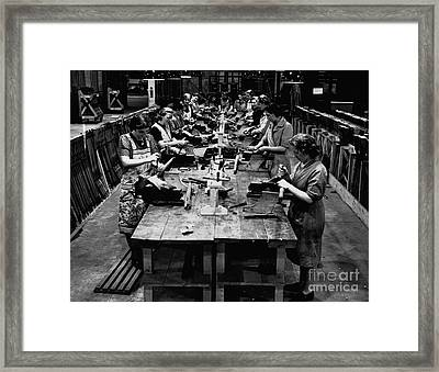 Historical 20st Century People Black And White Artwork 115 Framed Print by Boon Mee