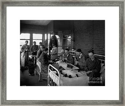 Historical 20st Century People Black And White Artwork 124 Framed Print by Boon Mee