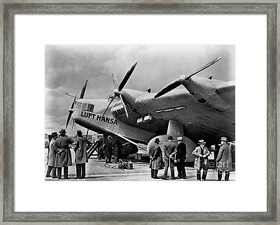 Historical 20st Century People Black And White Artwork 127 Framed Print by Boon Mee