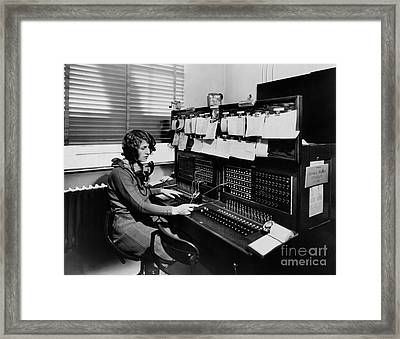 Historical 20st Century People Black And White Artwork 129 Framed Print by Boon Mee