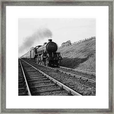 Historical 20st Century People Black And White Artwork 131 Framed Print by Boon Mee