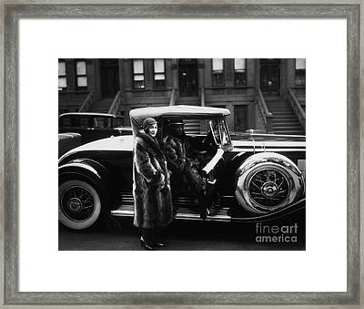 Historical 20st Century People Black And White Artwork 133 Framed Print by Boon Mee