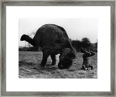 Historical 20st Century People Black And White Artwork 134 Framed Print by Boon Mee