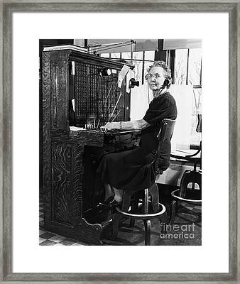 Historical 20st Century People Black And White Artwork 138 Framed Print by Boon Mee