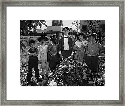 Historical 20st Century People Black And White Artwork 143 Framed Print by Boon Mee