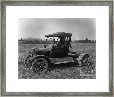Historical 20st Century People Black And White Artwork 145 Framed Print by Boon Mee