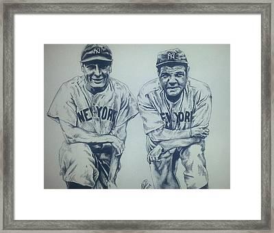 Historical Baseball Framed Print by Melissa Sink