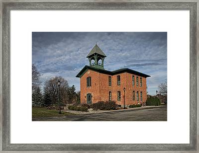 Historical Building In Southwest Michigan Framed Print by Randall Nyhof