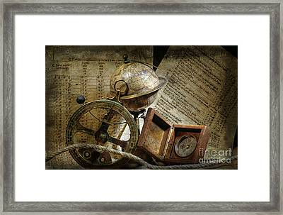 Historical Navigation Framed Print by Bernard Jaubert