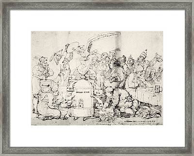 Historical Political Satire, Artwork Framed Print by Science Photo Library