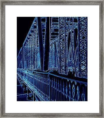 Historical Sixth Street Bridge Grand Rapids Michigan Framed Print by Rosemarie E Seppala