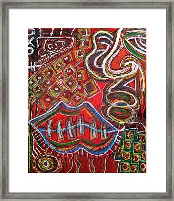 History Bleeds Twice  Framed Print by Kamoni Khem