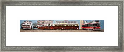 History Of The Toronto Streetcar Framed Print by Kenneth M  Kirsch