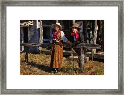 Hitching Post Framed Print by Jack Milchanowski