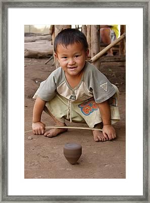 Hmong Boy Framed Print by Adam Romanowicz