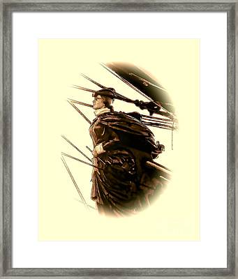 Hms Bounty - Lost At Sea  Framed Print by Julia Springer