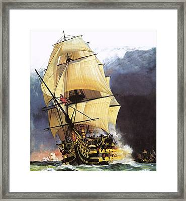 Hms Victory Framed Print by Andrew Howat