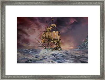 H.m.s Victory Framed Print by Jean Walker