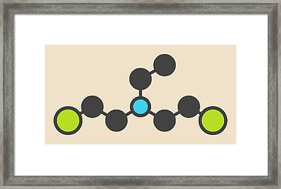 Hn1 Nitrogen Mustard Molecule Framed Print by Molekuul