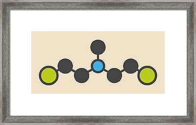 Hn2 Nitrogen Mustard Molecule Framed Print by Molekuul