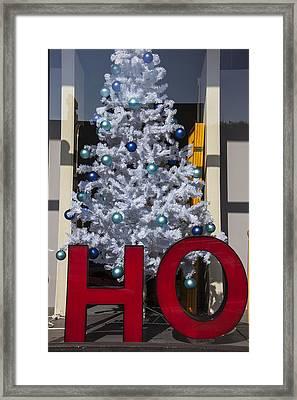Ho Christmas Tree Framed Print by Garry Gay
