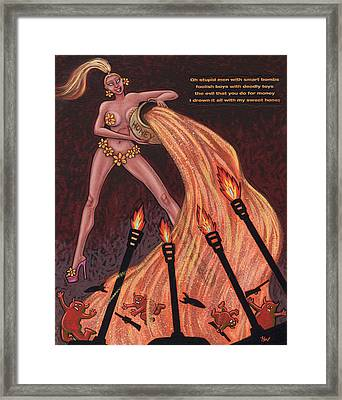 Ho' Goes To War Framed Print by Holly Wood