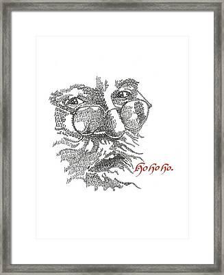 Ho Ho Ho Framed Print by Sally Penley