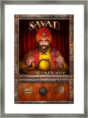 Hobby - Have Your Fortune Told Framed Print by Mike Savad