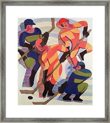 Hockey Players Framed Print by Ernst Ludwig Kirchner