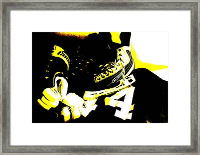 Hockey Posterize Framed Print by John Turner