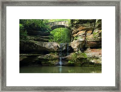 Hocking Hills Waterfall 1 Framed Print by Chris Flees