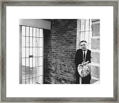 Hoffa Enters Federal Prison Framed Print by Underwood Archives