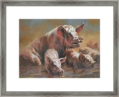 Hog Heaven Framed Print by Mia DeLode