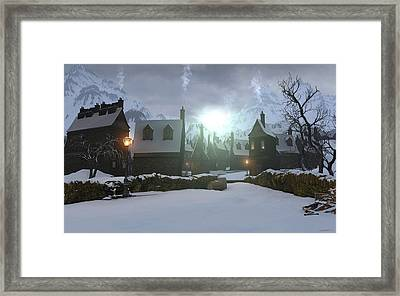 Hogsmeade Framed Print by Cynthia Decker