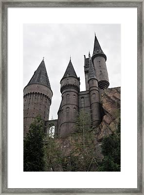 Hogwarts Below Framed Print by Rebecca Parker